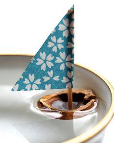 bateau noix diy enfant / kids walnut boat diy