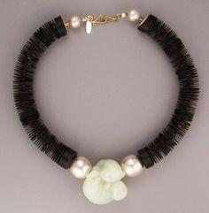Africa black vulcanite...China serpentine...Thailand fine silver... teri@teripelio.com