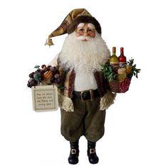 Wine Basket Santa, Santas, Home Decor and Gifts, Karen Didion  available at#Binns of Williamsburg