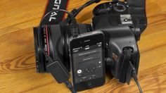 Turn your iPhone (and Android phone in the near future) into a smart shutter release for your DSLR. Loads of neat options, including triggers based on time, location and movement.