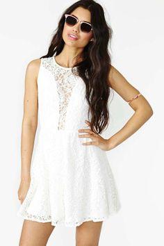 For Love & Lemons Lulu Dress - White Lace