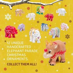 Its Only One Month Until Christmas Eve These Unique Elephant Parade Ornaments Are The Perfect Addition To Any Christmas Tree Www Homearama Co Uk
