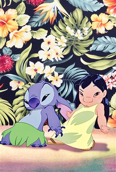 """"""" iPhone Backgrounds → Lilo and Stitch by request """""""