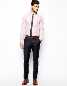 Image 4 ofASOS Smart Shirt In Long Sleeve With Large Gingham Check