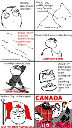 "Pardon the profanity, but as a Canadian, this is just too funny not to pin.<<< this is such a Canadian thing to say, ""Pardon my Profanity""! Canadian Memes, Canadian Things, I Am Canadian, Canadian Humour, Canada Funny, Canada Eh, I Love To Laugh, Make Me Smile, Meanwhile In Canada"