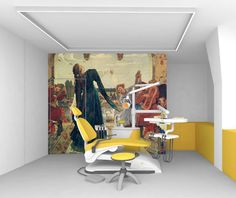 Clinic Design, Architectural Elements, Architecture, Dental Offices, Painting, Interiors, Arquitetura, Painting Art, Paintings