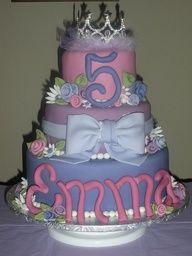 Girls Birthday Cake princess tiara