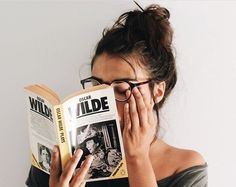 book, glasses, and hipster image