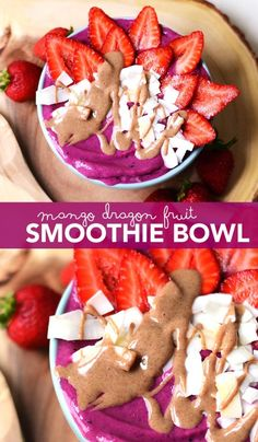 This bright pink mango dragon fruit smoothie bowl is coming in hot right after a beautiful long weekend. Yummy Smoothies, Yummy Drinks, Smoothie Recipes, Healthy Waffles, Healthy Breakfast Recipes, Healthy Foods, Healthy Eating, Dragon Fruit Smoothie, Smoothie Bowl