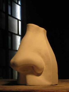 Plaster Outsize, Very Big, Extra Large & Massive Sculptures #sculpture by #sculptor Will Davies titled: 'NOSE (Giant Carved stone Portrait Sculptures )' £167 #art