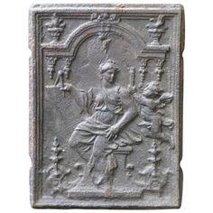 17/18th Century Woman and Cupid Fireback | 1stdibs.com
