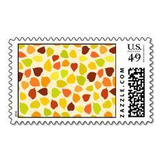 Linden tree autumn leaves postage stamps  #postage #stamp #stamps #zazzle #leaves #floral #leaf #nature