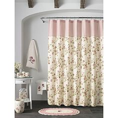 With its shabby chic appeal, the Rosalie Shower Curtain delivers a charming dose of vintage elegance to your bathroom. The soft pink floral motif throughout invigorates the senses, whisking you away to a secret garden.