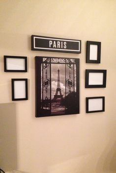 Embellish a canvas picture with frames