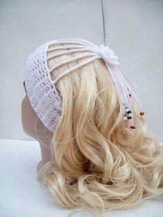 Items similar to Bridal Hair Accessories, Women Ear warmer, White Crochet Headband, Wedding Headwrap Crochet Beanie, Crochet Shawl, Crochet Baby, Knit Crochet, Bridal Hair Accessories, Crochet Accessories, Crochet Wedding, Crochet Hair Styles, Ear Warmers