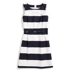 Tommy Hilfiger Stripe Dress (€93) ❤ liked on Polyvore featuring dresses, cotton stripe dress, tommy hilfiger dresses, striped cotton dress, striped dress and tommy hilfiger