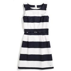 Tommy Hilfiger Stripe Dress (2,075 MXN) ❤ liked on Polyvore featuring dresses, tommy hilfiger, striped cotton dress, cotton dresses, striped dress and stripe dresses