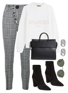 """""""Untitled #4271"""" by magsmccray ❤ liked on Polyvore featuring Alexander Wang, Balmain, Givenchy, Dolce Vita, Ray-Ban and Gucci"""