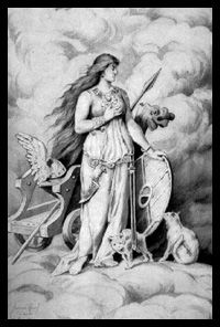 The Norse Goddess - Freya~Freyja.   Queen of the Valkyries, and associated with love, beauty, fertility, gold, seiðr, war, and death.