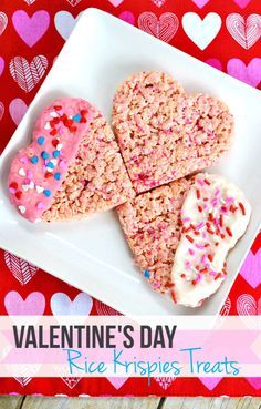 Valentine's Day Chocolate Dipped Rice Krispie Treats Recipe