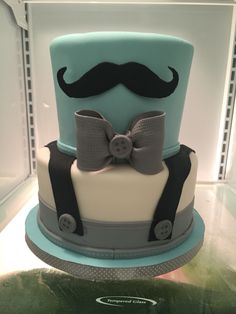 41 trendy baby boy shower cakes little man birthday parties Lil Man Baby Shower, Baby Shower Cakes For Boys, Baby Boy Cakes, Boy Baby Shower Themes, Baby Shower Parties, Little Man Babyshower, Mustache Cake, Mustache Birthday, Birthday Cake