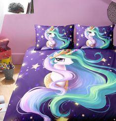 unicorn rainbow bedding paisley mandala fairytale bedroom giftforcrush mermaid rooms bed bedrooms master meme