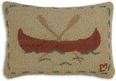 red canoe pillow. love!