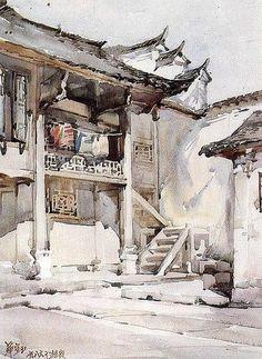 Акварель Huayi Yu