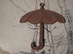 1 Vintage Heavy Struck Detailed Brass Umbrella by StarPower99, $2.70  SOLD