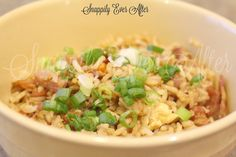 Snappily Ever After: Takeout Fried Rice || Make our home fried rice that is easier, better for you and more delicious than ordering it from a restaurant. You'll be so pleased with how easy it is and how much better it tastes, you'll never order fried rice again and just crave your own.