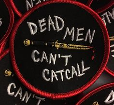 Stop yelling at us. Stop harassing us. We don't owe you shit. If you think catcalling is cool, you suck. Show just how serious you are with this patch f Punk Patches, Pin And Patches, Estilo Punk Rock, Arte Punk, Patch Pants, Eat The Rich, Battle Jacket, Look Man, Riot Grrrl