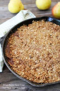 Brown Butter Pear Crisp Recipe on twopeasandtheirpod.com The brown butter makes this crisp extra special!