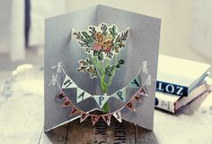 Mother's Day banner card | black oak vintage