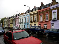London Row Houses love the bright colours!