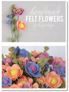 Felt Flower Tutorial - Felting                                                                                                                                                     More