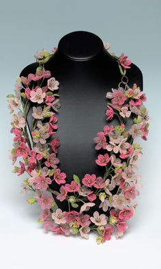 Bib-Style Necklace with Seed Beads and Glass Beads