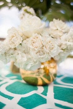 White rose decor: http://www.stylemepretty.com/california-weddings/rancho-santa-fe/2014/04/09/modern-garden-party-in-southern-california/ | Photography: Studio 28 - http://studio28photo.com/