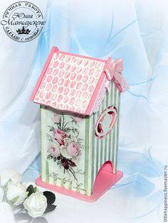 """Купить Чайный домик """" Чайная роза"""" - розовый, розы, цветочные мотивы, полоски, кружево"""