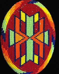 #throwback fisrt #geometric design i ever #beaded a few years ago. #native #nativeart