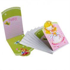 Cartes invitation Princesse