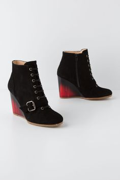 Such. Hot. Shoes.  Lucite Buckled Booties - Anthropologie.com