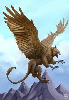 Griffin by GothaWolf on DeviantArt Mythological Creatures, Fantasy Creatures, Mythical Creatures, Dream Fantasy, Dark Fantasy Art, Final Fantasy, Fantasy Beasts, Legendary Creature, Sword And Sorcery