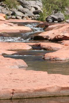 Places i've been: Slide Rock in Sedona, AZ. You can swim all over these rocks like a waterpark but it does hurt your butt after a while.