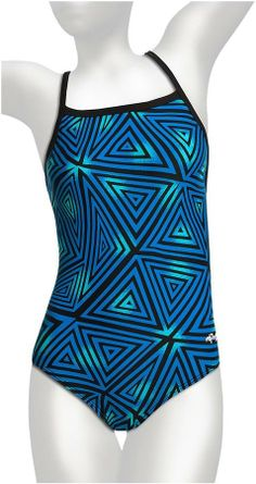 Dolfin Square-Neck Competition Swimsuit - 1-Piece (For Women).    I love!!!!! This suit