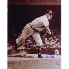 Autograph Warehouse 60960 Bob Feller Autographed 16X20 Photo Inscribed Hof 62 Cleveland Indians, As Shown