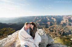 Grand Canyon engagement session by Cameron & Kelly Studio  http://www.cameronkellyarizona.com #EngagementPhotos #GrandCanyon #PhotoIdeas