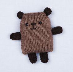Loom Knit Bear pattern by Lion Brand Yarn Knitted loom Knitting Bear, Loom Knitting Stitches, Knitted Teddy Bear, Knifty Knitter, Loom Knitting Projects, Yarn Projects, Free Knitting, Knitting Toys, Loom Patterns