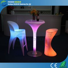 16 Color Changing RGB LED Light Up Mini Bar Table www.goldlik.com