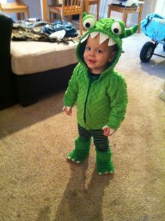 Monster Halloween costume Baby Costumes For Boys, Toddler Costumes, Halloween Costumes For Kids, Alien Halloween, Baby Kostüm, Halloween Sewing, Maquillage Halloween, Halloween Disfraces, Halloween