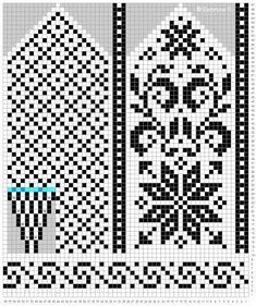 Norwegian mittens in the selbu tradition. Knitted Mittens Pattern, Knit Mittens, Knitting Socks, Knitting Charts, Knitting Stitches, Knitting Patterns, Filet Crochet, Fingerless Mittens, Fair Isle Knitting